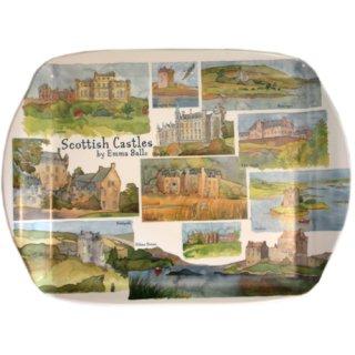 <br>Emma Ball 【EBMMD52】<br>Medium Tray トレイ<br>Scottish Castles