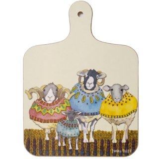 <br>Emma Ball 【EBMCB70】<br>Mini Chopping Board<br>ミニチョッピングボード<br>Sheep in Sweaters