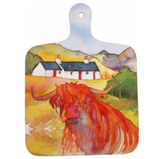 <br>Emma Ball 【EBMCB02】<br>Mini Chopping Board<br>ミニチョッピングボード<br>Highland Cow