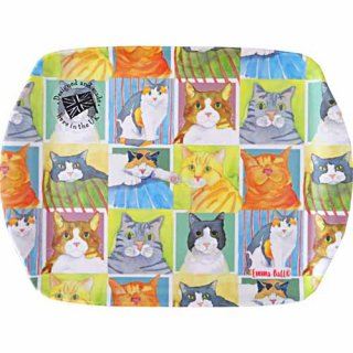 <b>オックスフォードタイム別注品</b><br>Emma Ball 【EBMSC64】<br>Small Tray トレイ<br>BRITISH CAT LIFE