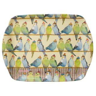 <br>Emma Ball 【EBMSC71】<br>Small Tray トレイ<br>Budgies in Beanies