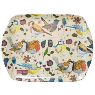 <br>Emma Ball 【EBMSC72】<br>Small Tray トレイ<br>Stitched Birdies