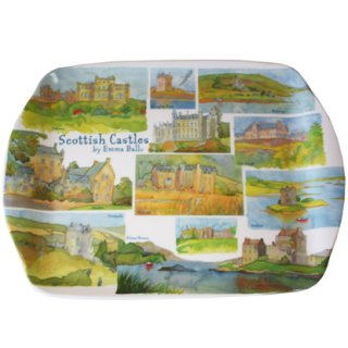 <br>Emma Ball 【EBMSC52】<br>Small Tray トレイ<br>Scottish Castles