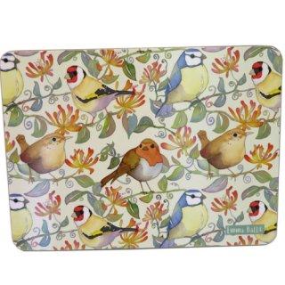 <br>Emma Ball 【EBTM07】<br>Table Mat テーブルマット<br>Birds & Honeysuckle