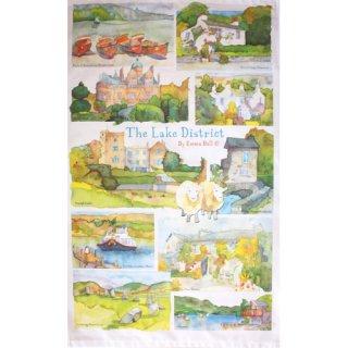 <br>Emma Ball 【EBTT04】<br>Tea Towel ティータオル 100% コットン<br>The Lake District