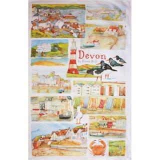 <br>Emma Ball 【EBTT08】<br>Tea Towel ティータオル 100% コットン<br>Devon