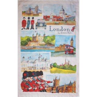 <br>Emma Ball 【EBTT34】<br>Tea Towel ティータオル 100% コットン<br>London