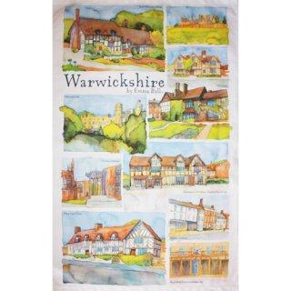<br>Emma Ball 【EBTT36】<br>Tea Towel ティータオル 100% コットン<br>Warwickshire