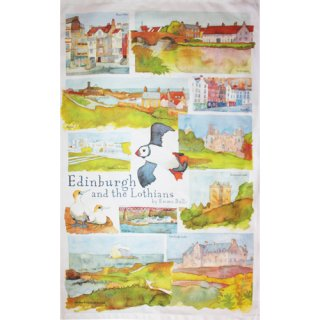 <br>Emma Ball 【EBTT19】<br>Tea Towel ティータオル 100% コットン<br>Edinburgh and the Lothians