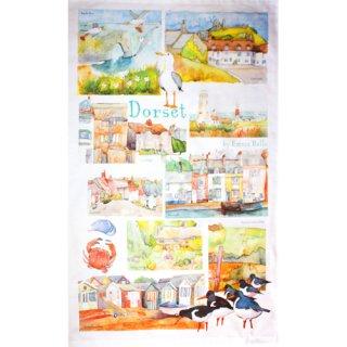 <br>Emma Ball 【EBTT06】<br>Tea Towel ティータオル 100% コットン<br>Dorset