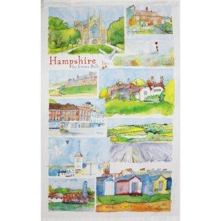 <br>Emma Ball 【EBTT11】<br>Tea Towel ティータオル 100% コットン<br>Hampshire