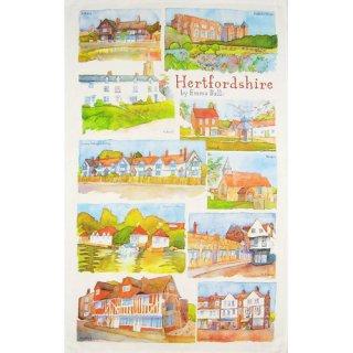 <br>Emma Ball 【EBTT24】<br>Tea Towel ティータオル 100% コットン<br>Hertfordshire