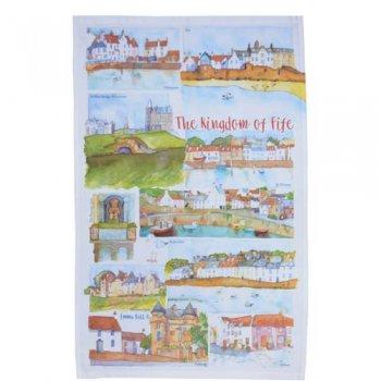<br>Emma Ball 【EBTT27】<br>Tea Towel ティータオル 100% コットン<br>Kingdom of Fife