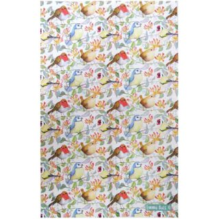 <br>Emma Ball 【EBTT38】<br>Tea Towel ティータオル 100% コットン<br>Birds & Honeysuckle