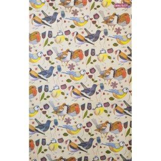 <br>Emma Ball 【EBTT51】<br>Tea Towel ティータオル 100% コットン<br>Stitched Birdies