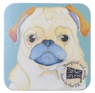 <br>Emma Ball 【EBCW015】<br>Coaster コースター<br>Doug the Pug