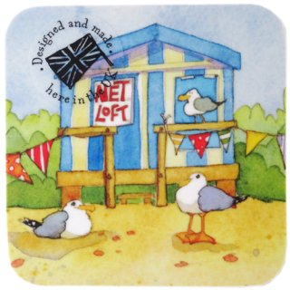 <br>Emma Ball 【EBCW025】<br>Coaster コースター<br>A Day at the Seaside
