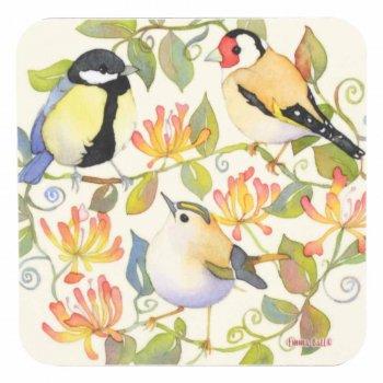 <br>Emma Ball 【EBCW037】<br>Coaster コースター<br>Three Birds Yellow