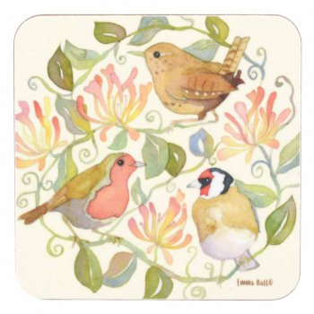 <br>Emma Ball 【EBCW038】<br>Coaster コースター<br>Three Birds Red