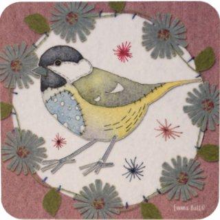 <br>Emma Ball 【EBCW074】<br>Coaster コースター<br>Stitched Birds