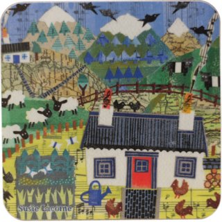 <br>Susie Lacome 【EBCW075】<br>Coaster コースター<br>Highland Sheep Croft