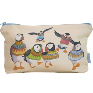 <br>Emma Ball 【EBZP01】<br>Zipped pouch ポーチ<br>Woolly Puffins