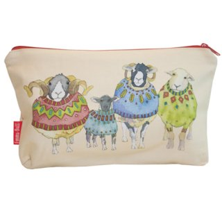 <br>Emma Ball 【EBZP02】<br>Zipped pouch ポーチ<br>Sheep in Sweaters