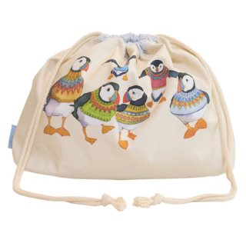 <br>Emma Ball 【EBDS01】<br>Drawstring Bag 巾着バッグ<br>Woolly Puffins