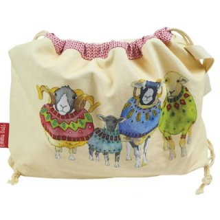 <br>Emma Ball 【EBDS02】<br>Drawstring Bag 巾着バッグ<br>Sheep in Sweaters