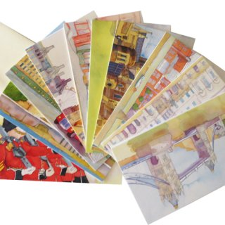 <br>Emma Ball 【EBMCP42】<br>Note Card カードセット<br>10枚 封筒付<br>London