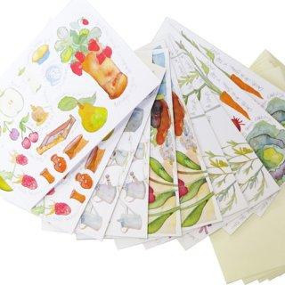<br>Emma Ball 【EBMCP44】<br>Note Card カードセット<br>10枚 封筒付<br>Gardening