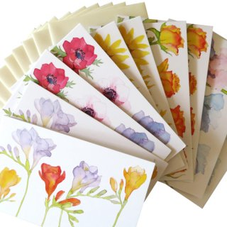 <br>Emma Ball 【EBMCP50】<br>Note Card カードセット<br>10枚 封筒付<br>Florabunda