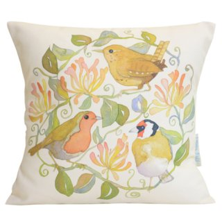 <br>Emma Ball 【EBCC06】<br>Cushion Cover クッションカバー 100% コットン<br>Birds & Honeysuckle