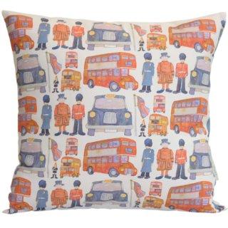 <br>Emma Ball 【EBCC04】<br>Cushion Cover クッションカバー 100% コットン<br>London Sketch