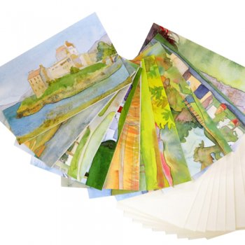<br>Emma Ball 【EBMCP45】<br>Note Card カードセット<br>10枚 封筒付<br>Scottish Castles & Houses