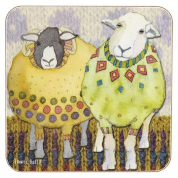 <br>Emma Ball 【EBCW080】<br>Coaster コースター<br>Two Sheep in Sweaters