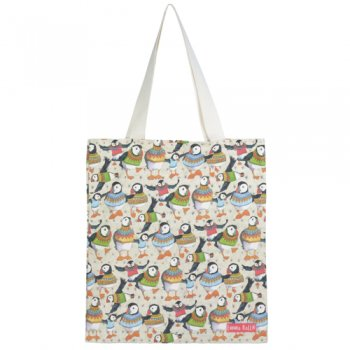 <br>Emma Ball 【EBTOTE10】<br>Canvas Tote Bag キャンバス トート バッグ<br>Woolly Puffins