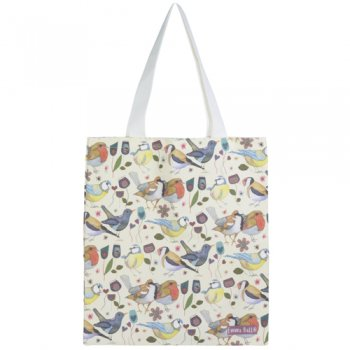 <br>Emma Ball 【EBTOTE12】<br>Canvas Tote Bag キャンバス トート バッグ<br>Stitched Birdies