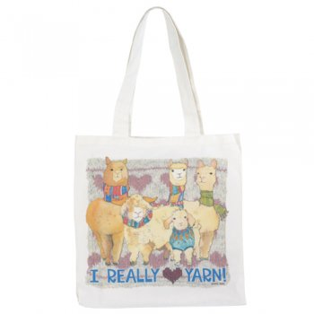 <br>Emma Ball 【EBTOTE14】<br>Canvas Tote Bag キャンバス トート バッグ<br>I Really Love Yarn