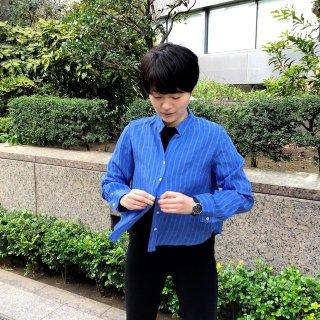 fog 青のストライプシャツ (o)