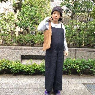 味だしカンタキルトバッグ・茶×紫(o)