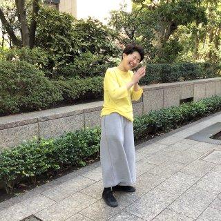yohaku起毛極太パンツ 杢グレー(o)