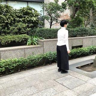yohaku起毛極太パンツ 黒(o)