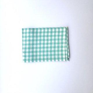 キッチンクロス チェック×緑(o)