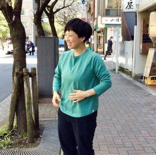 yohaku ラグラン9分袖Tシャツ グリーン(o)