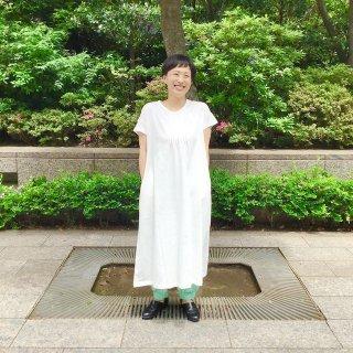 People Tree フロントピンタックワイドドレス(o)