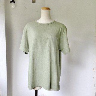 MILFOIL ポケットTシャツ メランジライム(o)