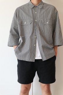 unfil  Washed Cotton Gingham Work Shirts