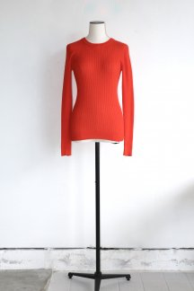 <img class='new_mark_img1' src='https://img.shop-pro.jp/img/new/icons5.gif' style='border:none;display:inline;margin:0px;padding:0px;width:auto;' />JUN MIKAMI COTTON RIB PULLOVER CORAL
