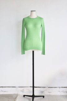 <img class='new_mark_img1' src='https://img.shop-pro.jp/img/new/icons5.gif' style='border:none;display:inline;margin:0px;padding:0px;width:auto;' />JUN MIKAMI COTTON RIB PULLOVER GREEN